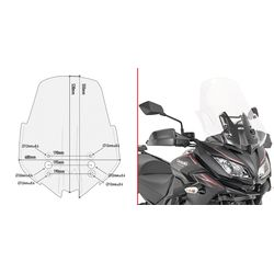 GIVI Specific Screen for Kawasaki Versys 1000 2017>18 D4120ST