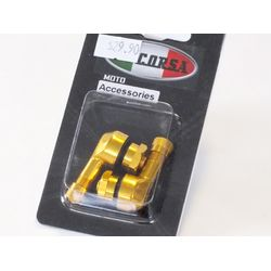La Corsa Right Angle Valve Stem - Gold