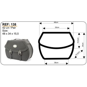 Longride Saddlebags for Kawasaki VN1500 Classic, HC138