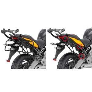 GIVI Rapid Release Pannier Frames for Kawasaki Versys 650 2010>14, PLR450