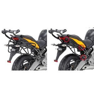 GIVI Rapid Release Pannier Frames to fit V35 Panniers to Kawasaki Versys 650 2010>14, PLXR450