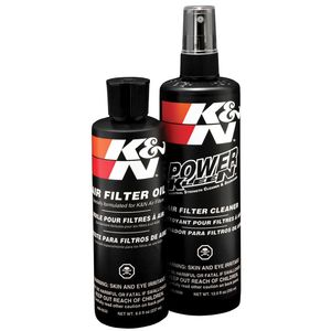 K&N Air Filter Recharger Cleaning Kit, Aerosol/Squeeze Oil, 99-5000, 99-5050